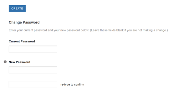 Changing Your Password - User Preferences Area