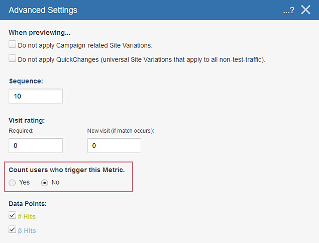 Counting Visitors in Campaigns - Advanced Settings II
