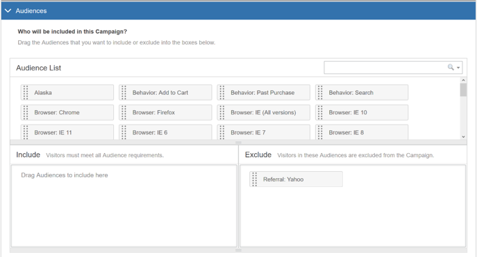 How do I build a Campaign in Find & Replace Mode - Assign Audiences