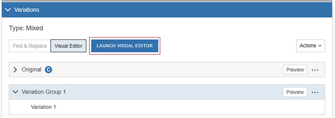 How do I build a Campaign with the Visual Editor - Specify Variations II