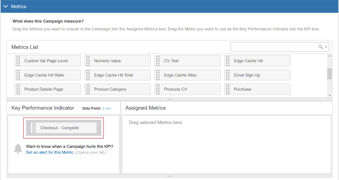 How do I create an AB Test with multiple Variation Groups - Add a KPI
