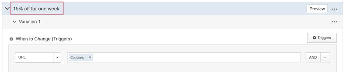 How do I create an AB Test with multiple Variation Groups - Create One Variation Group III