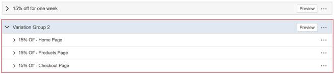 How do I create an AB Test with multiple Variation Groups - Create Two More Variation Groups II