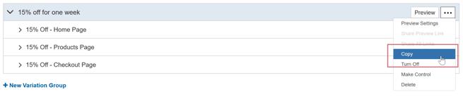 How do I create an AB Test with multiple Variation Groups - Create Two More Variation Groups