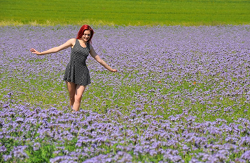 Image Swap Using the Visual Editor - Girl in Flower Field