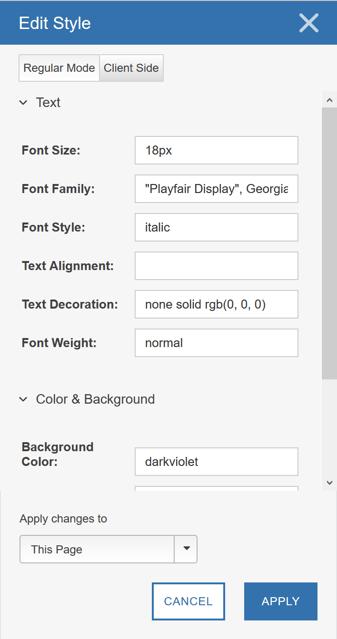 Image Swap Using the Visual Editor - Step 3 Edit Style