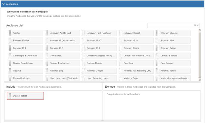 Image Swap Using the Visual Editor - Step 5 Audiences