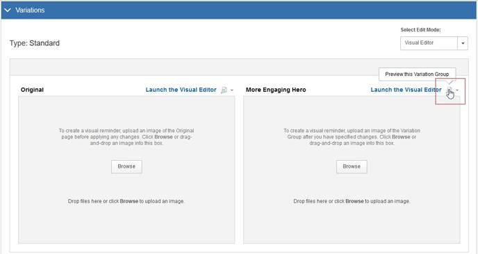 Image Swap Using the Visual Editor - Step 7 Variations