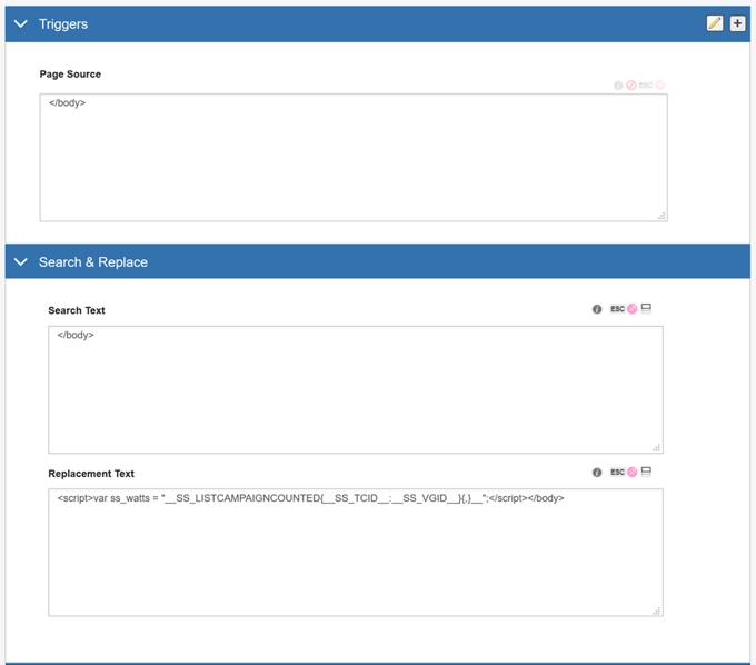 Integrating SiteSpect and Clicktale - Set up a SiteSpect WATTS Site Variation IV