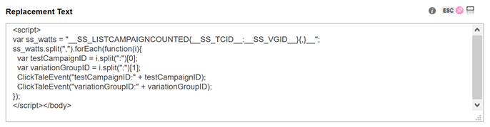Integrating SiteSpect and Clicktale - Set up a SiteSpect WATTS Site Variation V
