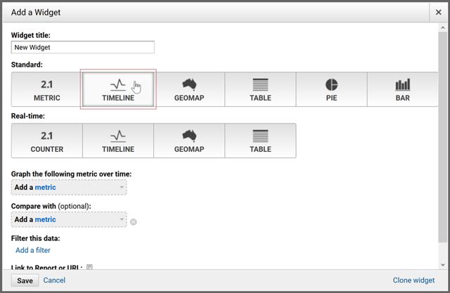 Integrating SiteSpect and Google Analytics - Add a Widget