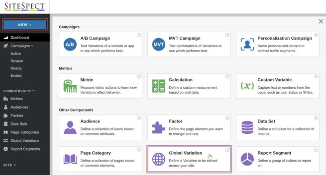 Integrating SiteSpect and Google Analytics - SiteSpect Menu