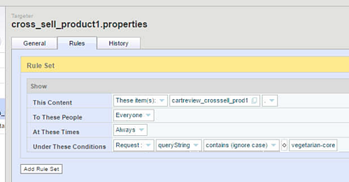 Integrating SiteSpect and Oracle ATG Web Commerce - Cross Sell Product1 Properties