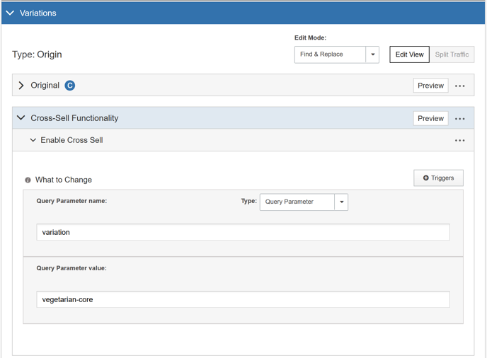Integrating SiteSpect and Oracle ATG Web Commerce - Variations