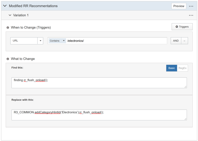 Integrating SiteSpect and RichRelevance - Setting up a SiteSpect AB Campaign to Optimize RichRelevance Recommendations II