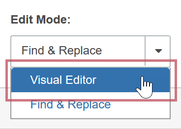 Launching the Visual Editor - Edit Mode