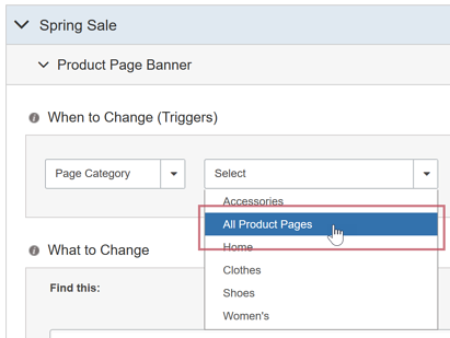 Page Category Triggers