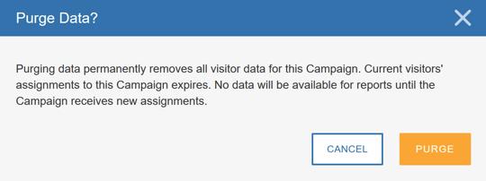 Purging Campaign Data - Purge Data