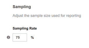 Report Sampling - Changing the Sampling Rate for a Selected Campaign