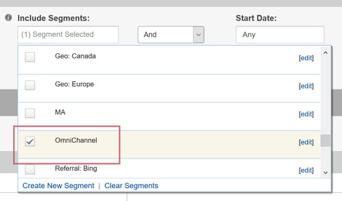 Reporting on OmniChannel Data - Adding an OmniChannel Segment to Reports