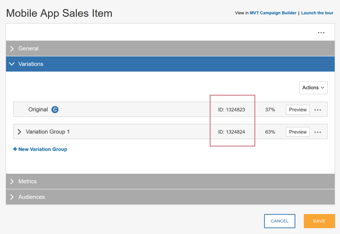 Retrieving IDs From SiteSpect - Mobile App Sales Item