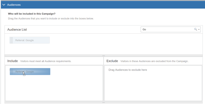 Selecting Audiences in the AB Campaign Builder - Audience Example II