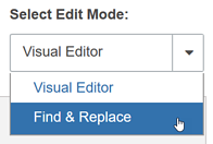 Selecting the Edit Mode