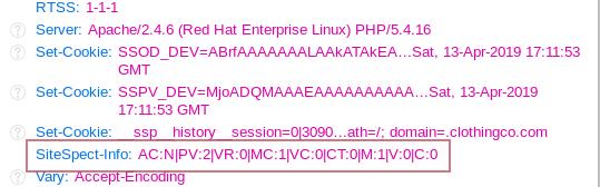 Using SiteSpect Info Header Codes II