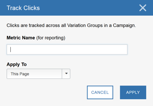 Using the Visual Editor - Tracking Clicks